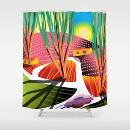 Trip to Elysian Park Shower Curtain