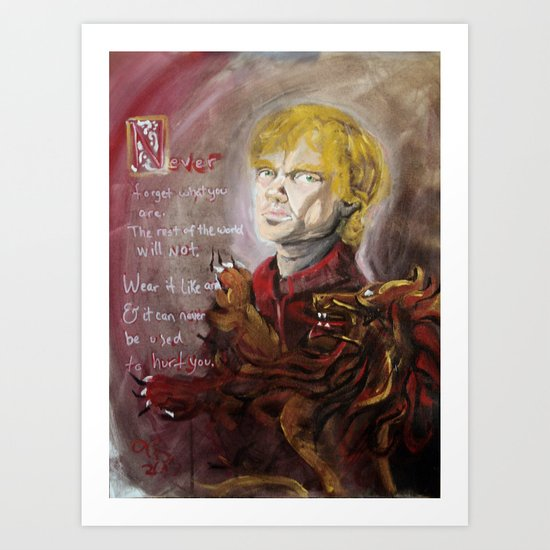 """The Imp """"Never forget what you are"""" Art Print"""