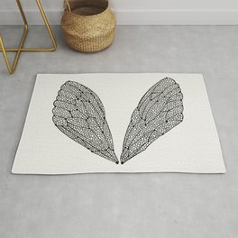 Black Cicada Wings Rug