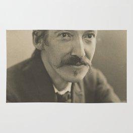 Vintage Robert Louis Stevenson Photo Portrait Rug