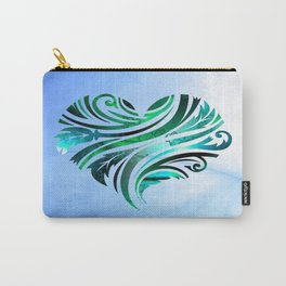 Cheerful Heart (blue-green) Carry-All Pouch