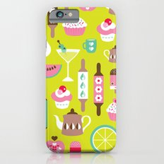 Lime cocktail party and candy kitchen food print iPhone 6 Slim Case