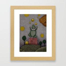 Frogking (2) Framed Art Print