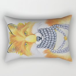 Fox Fur and Pearls Rectangular Pillow