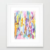 dance Framed Art Prints featuring Dance by Amy Sia