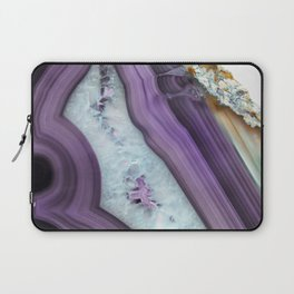 Purple Agate Slice Laptop Sleeve