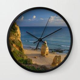 Praia da Rocha solitary rock Wall Clock