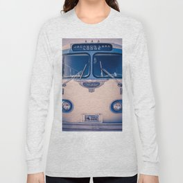 Jackson Lake Lodge Vintage Bus Print Long Sleeve T-shirt