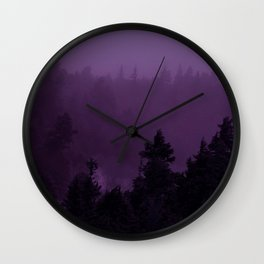 Purple Fog Wall Clock