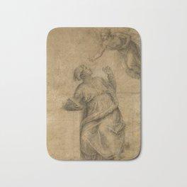 Michelangelo - Annunciation to the Virgin (1550) Bath Mat