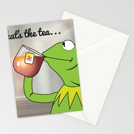 Kermit Tea Meme Stationery Cards