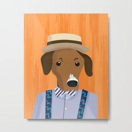 Dapper Dog 6 Metal Print