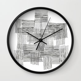 Parallel and perpendicular pencil lines Wall Clock