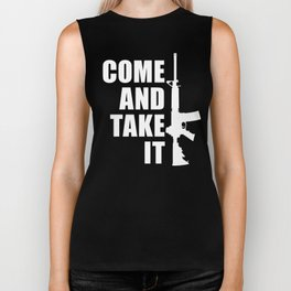 Come and Take it with AR-15 inverse Biker Tank