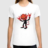 heavy metal T-shirts featuring Heavy Metal Devil by John Schwegel