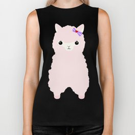 Alpaca In Love  Biker Tank