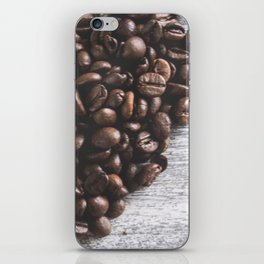 Coffee beans heart iPhone Skin