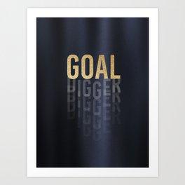 Goal Digger - Gold on Black Art Print