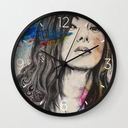 untitled #91020 | zentangle japanese woman portrait Wall Clock