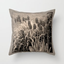 old timey tulips (square) Throw Pillow
