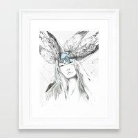 pigeon Framed Art Prints featuring Pigeon by Francesca Hooper