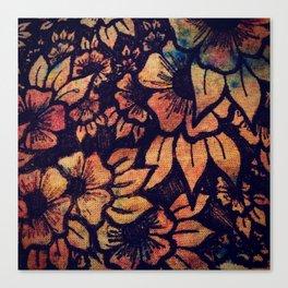 Rainbow Florals  Canvas Print