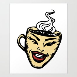 Hot cup of coffee Art Print