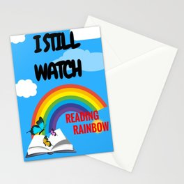 Reading Rainbow Stationery Cards