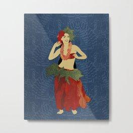 Polynesian Dancer Metal Print