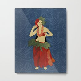 Polynesian Dancer Metal Print
