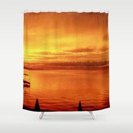 Orange Glow Shower Curtain