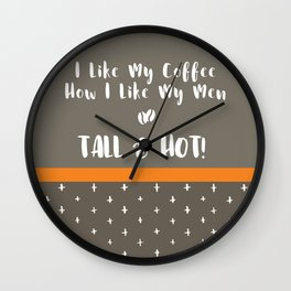 Tall & Hot Wall Clock