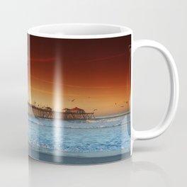 Sunrise Over Huntington Beach Pier Coffee Mug