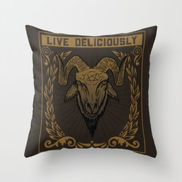 Live Deliciously Throw Pillow