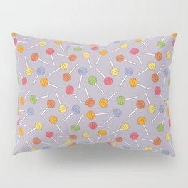 Happy Lollipops Sugar Candy Blue Background Pillow Sham