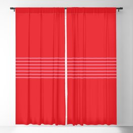 Fine Pink Lines on Red Blackout Curtain
