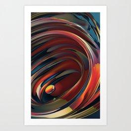 Spinning Glass 2 Art Print