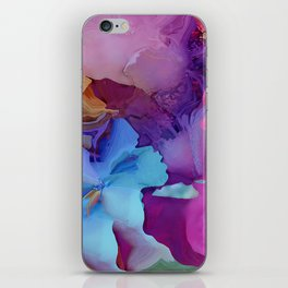 Alcohol Ink Flowers iPhone Skin
