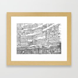 Hong Kong. Kowloon Walled City Framed Art Print