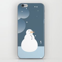 Snowman in the Snow iPhone Skin