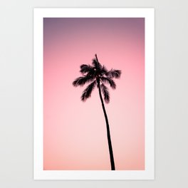 palm tree ver.pink Art Print