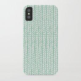 Knit Wave Mint iPhone Case