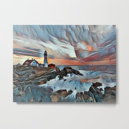 Edge of the Harbor Metal Print