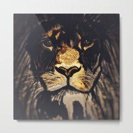 Noble Lion Metal Print