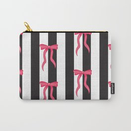 Bows and Stripes Carry-All Pouch