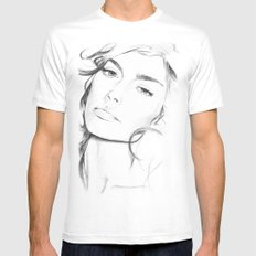 Sofia Benedetto MEDIUM Mens Fitted Tee White