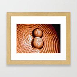 Golden Balls Framed Art Print
