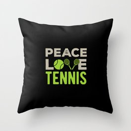 Tennis Funny Quote Throw Pillow