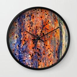 worm holes Wall Clock