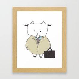 Businessman Goat - Greatest Of All Time Framed Art Print